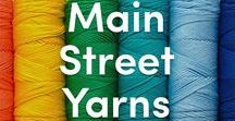 Main Street Yarns Knitting Patterns & Yarn / Main Street Yarns is our first US/Canada exclusive brand all about value, quality, and convenience! It's a versatile worsted weight, perfect for knitting hats, scarves, home decor, and more! Checkout this board for free knitting patterns and yarn inspiration, and shop our first line, Shiny + Soft, at LoveKnitting.com!