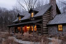 cabins... / by Kathy Blair