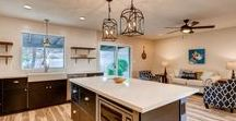 Kitchens / The heart of the home. I especially love mixing metals when I design kitchens and bathrooms.