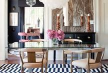 Dining / Gathering for meals should be an experience! I love an open concept, eat-in kitchen but I like to mix the formal with the glam whenever I can.