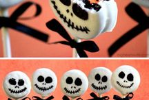 Halloween decor and foods