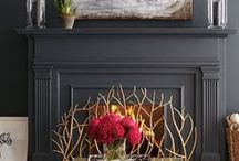 Fireplace & Hearth / Fireplaces can be a place for a dramatic focal point.