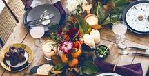 Tablescapes / I would have a new tablescape weekly if it were practical. But I can dream of tablescapes here.