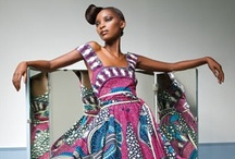 Modern West African Style / West Africa meets West. Bold uses of color and print.