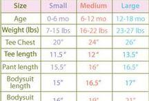 Body Size Charts / by Sara Kay Hartmann