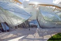 """Fondation Louis Vuitton / Responding to design considerations of the Jardin d'Acclimatation in Paris' western-most park, the Frank Gehry-designed Louis Vuitton Foundation uses billowing glass sails anchored to an """"iceberg"""" core made out of 19,000 tailor-made #Lafarge UHPC #Ductal #concrete panels! In honor of its grand opening on October 17th, 2014, discover some stunning visuals in our new board! / by Lafarge"""