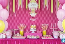 Pink & Yellow Party Girl Dessert Display / by Bella Cupcake Couture