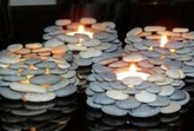 Candles and holders / by Eunice Luscombe