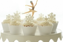 White Christmas Cupcake and Dessert Table / by Bella Cupcake Couture