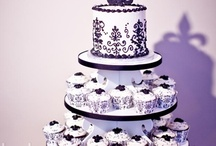 Black & White Damask Cupcake Party