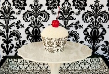 Black Cupcake Wrappers & Party Ideas / Black cupcake wrapper holders for your next party including weddings, bridal showers, birthdays and baby showers.