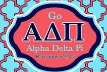 Alpha Delta Pi / Boom Boom I wanna go ADPi!  / by Hannah Baartmans