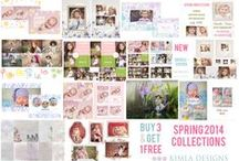 Kimla Designs Photography / Templates for Photographers, cards, albums, digital papers