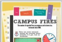 College Fire Safety / Articles, tips and resources for fire safety at college in the dorms and off-campus apartments.