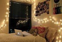 Dorm Room / Make your dorm feel like home.  Dorm, sweet dorm.