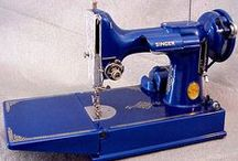 Vintage Sewing Machines / I learned how to sew on a Singer treadle machine. I love them!