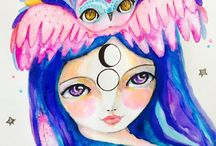 My art / Watercolors and mixed media art by Susana Tavares : whimsical, feminine, spiritual ... with a bit of magic dust ;)