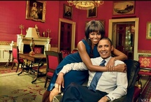 Barack Obama and Family / Our President, BARACK HUSSEIN OBAMA, JR., First Lady Michelle Obama and First Daughters, Malia Obama and Sasha Obama.  / by Sharon Cumberland