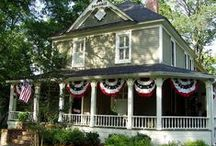Porch Banners and decorations / by Susan Nelson