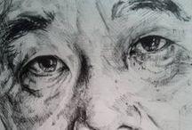 Ink / Drawings // Black Ink on paper
