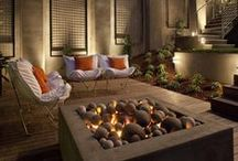 Fire / Outdoor fireplaces, fire pits, and lanterns / by Lenkin Design Inc | Landscape Architecture