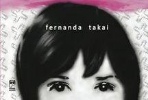 A mulher que não queria acreditar / Livro de contos e crônicas de Fernanda Takai, com projeto gráfico de Sandra Hiromoto.