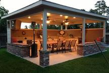 Outdoor kitchen and Open Living Room / by Henry Meneses