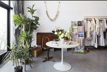work-space / inspiration boards, offices, curated shops, displays, merchandising ideas