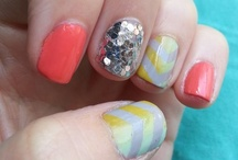 Nail art / My attempts at making nail art. Not always pretty, but close enough.  :] / by Gabrielle Guerra