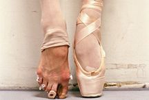 """At the ballet. / """"Everything was beautiful at the ballet ... It wasn't paradise ... But it was home."""" - A Chorus Line  """"Dancers are the athletes of God."""" - Albert Einstein  If you want the pretty shoes, you better be prepared for what your feet will look like inside them. / by June Leighton"""