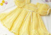 Crochet Dress Patterns / Crochet baby dress patterns and crochet girls dress patterns and women's crochet dress patterns. How to crochet a baby dress, best baby dress crochet patterns. Easy baby patterns to crochet. #Crochet  #crochetdresspatterns