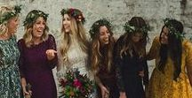 Bridesmaids & Bridal Party / Bridesmaid floral ideas and bridal party bouqet inspiration for the wedding - flowers, fashion and accessories!