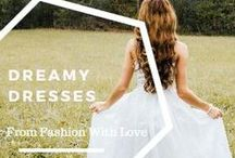 Dreamy Dresses / A variety of dresses, some that are haute and then some that aren't.