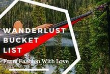 Wanderlust / A whole collection of the ultimate bucket list.