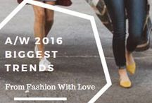 A/W 2016 Trends / Blazers, ruffles, velvet, sports wear, checks. Autumn Winter 2016