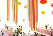 decorative / decorations, balloons, streamers, party decor, garlands, flowers, lights, and favors