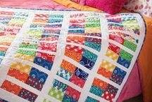 Quilting with Precuts / Take a look at quilts using pre-cuts, information about pre-cut fabrics, and other fun pre-cut projects. The majority of quilts here come from Fons & Porter's Quilting Quickly magazine, which features quilts made from pre-cut fabric strips and squares. Every Quilting Quickly project comes with a free video tutorial. Pretty handy, huh?! Get Quilting Quickly here <http://bit.ly/1CjzpDf> and check out the videos here <https://goo.gl/wHz44g>! / by Fons & Porter's Love of Quilting