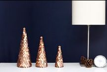 Copper for the Holidays / Burl Ives may have sung the praises of silver & gold in the classic Rudolph the Red Nosed Reindeer animation, but I'm taking a pass in favor of copper for the holidays. / by Lili Zarghami