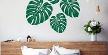 Nature Wall Decals by Vinyl Design / In our nature inspired wall decals range you'll find large trees, flowers, tropical leaves, branches and many more designs. Bring the outdoor indoor with our nature wall decals!