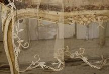 The Loveliest Linens and Lace / Age old lace and textiles lovingly displayed.  Shabby, tattered, or perfectly preserved, they all hold a piece of history and should be cherished.