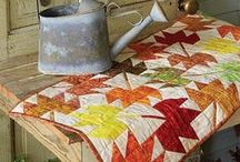 Fall Quilting Projects / We love the fall season and creating fall quilting projects. We hope you enjoy it as much as we do. These quick and fun quilt projects will bring a festive mood to your home decor in no time! / by Fons & Porter's Love of Quilting