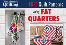 Fat Quarter Friendly Quilts / Are you looking for quilt patterns using fat quarters? You've come to the right place! These fat quarter quilt patterns will make a dent in your fat quarter stash and will be quilts you're proud to give as gifts or keep for yourself. On the hunt for fat quarter quilt patterns? Your search has ended. / by Fons & Porter's Love of Quilting