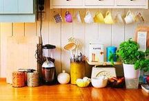 in the kitchen / kitchens and stuff that goes in them. / by Emily M