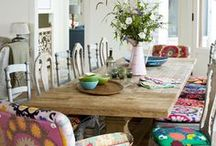 dining room / Dining room set ups, paint colors, styling the table, beautiful dining room collection