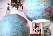 Globes / Collection of uses for Globes in Crafts & Design, home decor / by Made in a Day