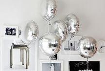 Decor | Balloons / Small, Big, Round, Shaped, White, Bright