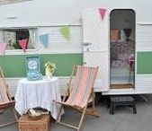 glamping / Revamping the interiors of campers and trailers to a more trendy and stylish decor. Glampers, Airstream, RV interior makeovers, caravan.