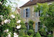 """Maison et Jardin / """"Mid pleasures and palaces though we may roam,  Be it ever so humble, there's no place like home."""" / by Raisa Ress"""