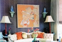 Rooms with abstract art / ~because you shouldn't fear abstract art and you don't need a 'modern house' to display it~