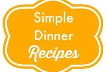 { Simple Dinner Recipes } / Simple Dinner Recipes for Busy Moms (http://www.alifeinbalance.net)